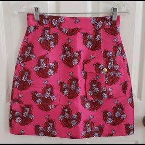 House of Holland cactus print mini skirt